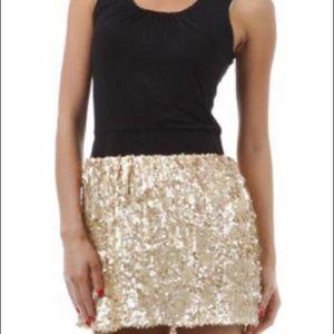 Sequined mini dress